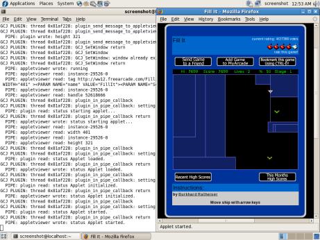 screenshot of gcjwebplugin on IcedTea in Firefox